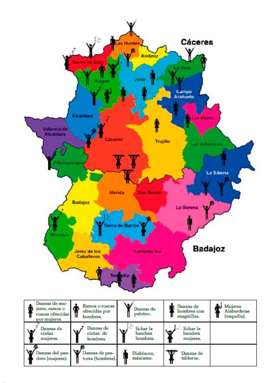 Zonas de Extremadura