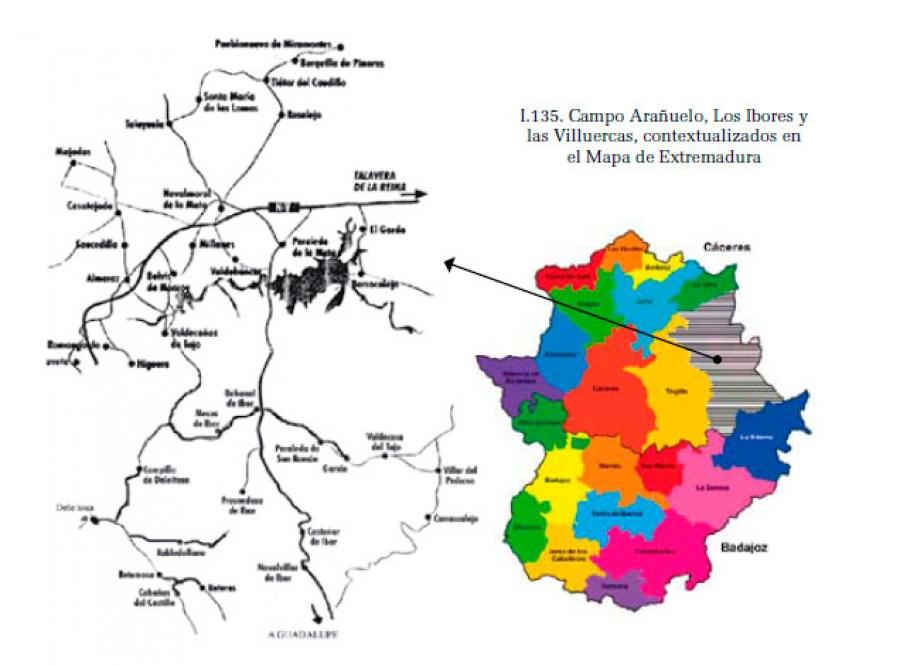 Campo Arañuelo, Los Ibores y Las Villuercas